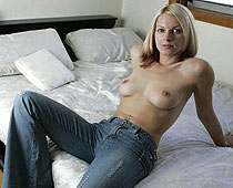 Bare tits and jeans