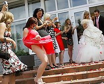 Oops! weddings upskirts
