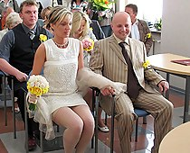 Accidental wedding upskirts